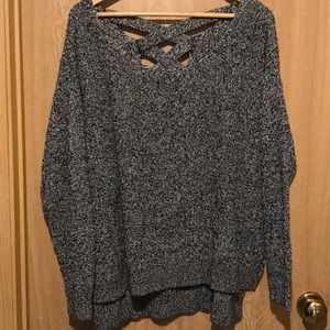 Lane Bryant sweater with cute criss-cross back